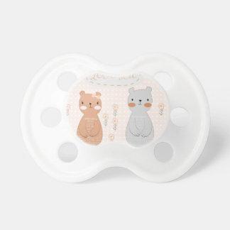 Chupeta Urso de ursinho bonito do casal dos namorados dos