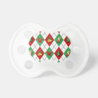 Chupeta verde vermelho do design novo do Natal