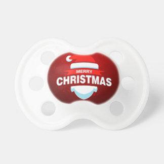 Chupeta Vermelho bonito do Xmas do Feliz Natal de Papai