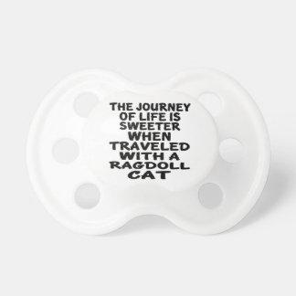 Chupeta Viajado com gato de Ragdoll