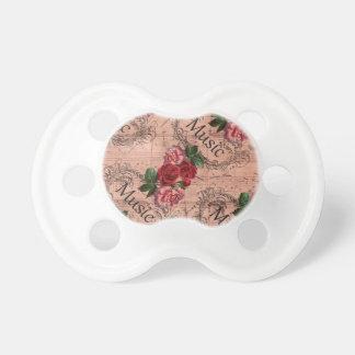 Chupeta Vintage floral para o amor da música