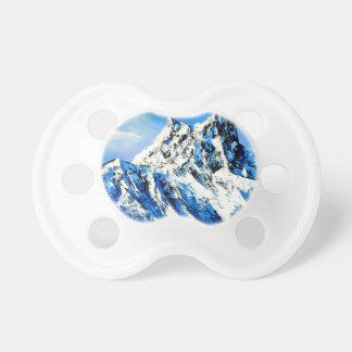 Chupeta Vista panorâmica do pico de montanha de Everest