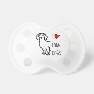Chupeta Wiener engraçado do cão bonito do Dachshund eu amo