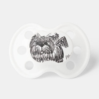 Chupeta Woof um cão do espanador de poeira