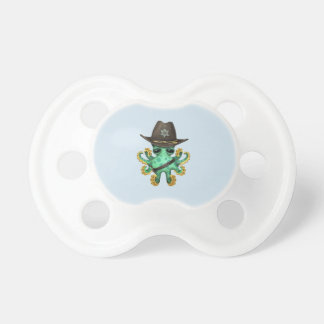 Chupeta Xerife verde bonito do polvo do bebê