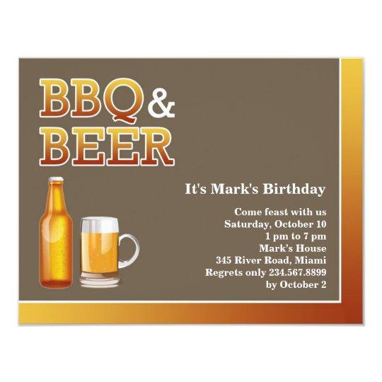 Churrasco Convite Liso Do Aniversário Da Cerveja Zazzlecombr