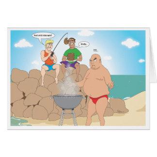 CHURRASCO da pesca ida/praia Cartão Comemorativo