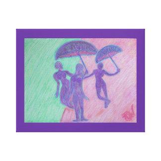Chuva Cometh da cópia das canvas Impressão De Canvas Envolvida