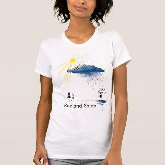 Chuva e brilho camisetas
