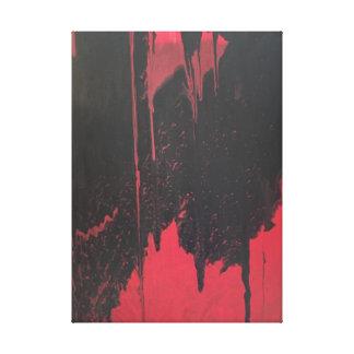 Chuva preta impressão em canvas