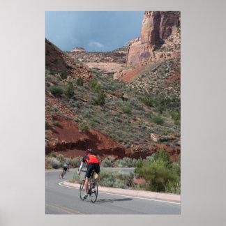 Ciclagem no monumento nacional de Colorado Impressão