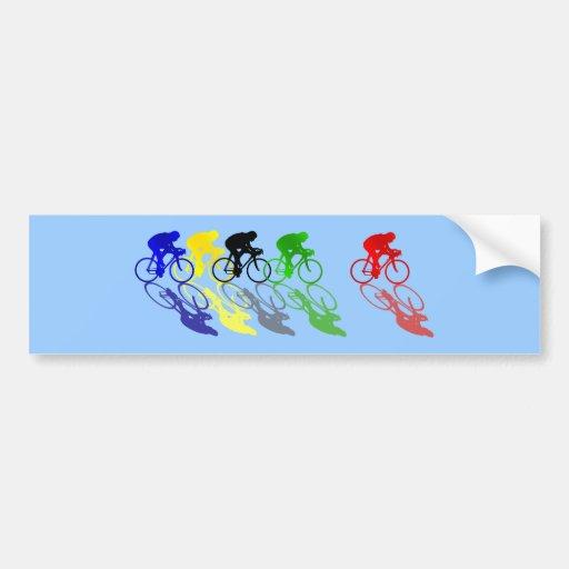 Ciclismo de corridas de automóveis da bicicleta da adesivo