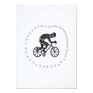 Ciclista 2 convite 12.7 x 17.78cm