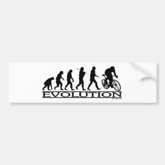 Ciclista do homem da evolução adesivo