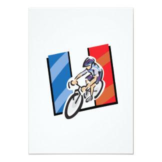 Ciclista francês 2 convite 12.7 x 17.78cm