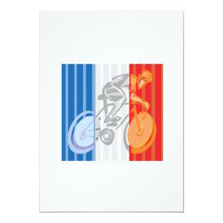 Ciclista francês convite 12.7 x 17.78cm
