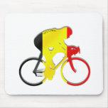 Ciclistas belgas da engrenagem de Bélgica Bicyle Mouse Pad