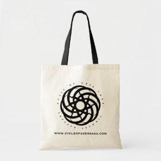 Ciclo da saga das idades:  Sacola circular do logo Sacola Tote Budget