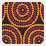 Ciclo de vida aborígene adesivos quadrados