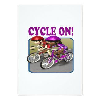 Ciclo em 3 convite 12.7 x 17.78cm