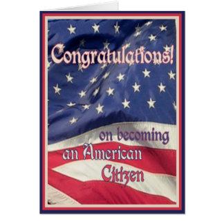 Cidadão americano novo cartão comemorativo