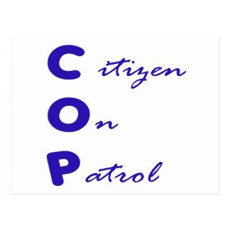 Cidadão no cartão da patrulha