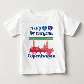 Cidade amigável de Wellcoda Copenhaga Dinamarca Camiseta Para Bebê