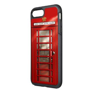 Cidade britânica engraçada da cabine de telefone capa para iPhone 7 plus OtterBox symmetry