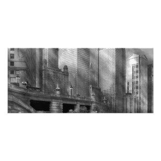 Cidade - Chicago IL - continuando um legado BW 10.16 X 22.86cm Panfleto