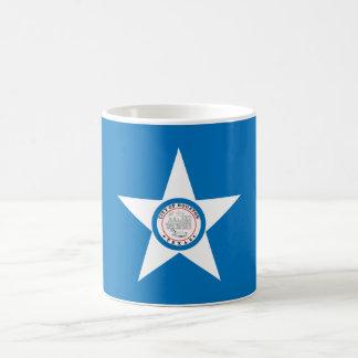 Cidade da bandeira de Houston Caneca De Café