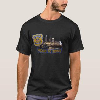 Cidade da camisa do departamento da polícia de