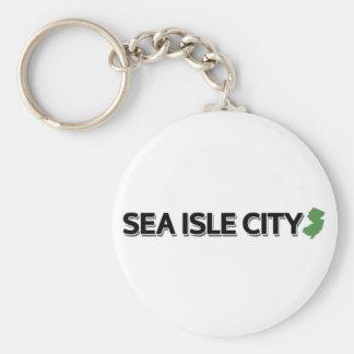Cidade da ilha do mar, New-jersey Chaveiro