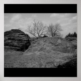 Cidade da rocha dos Concretions da bala de canhão, Pôsteres