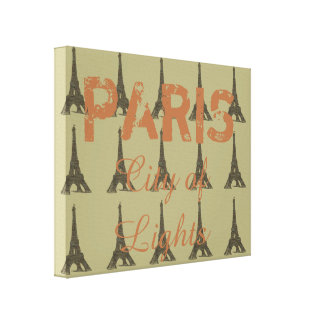 Cidade das luzes - impressão de Paris da arte das