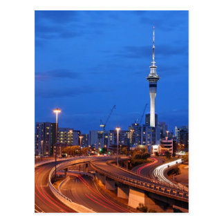 Cidade de Auckland no crepúsculo Cartão Postal