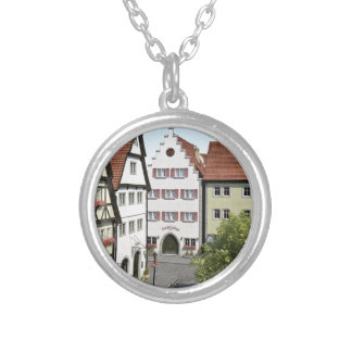 Cidade de Baviera de cima de Colar Banhado A Prata