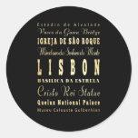 Cidade de Lisboa da arte da tipografia de Portugal Adesivo