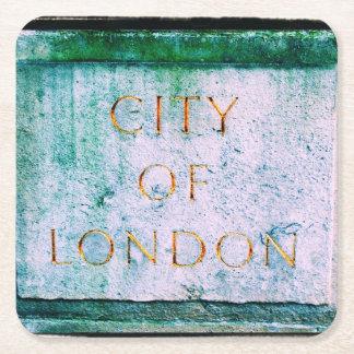 Cidade de Londres - porta copos Porta-copo De Papel Quadrado