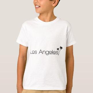 Cidade de Los Angeles de palmeiras dos anjos no T-shirt