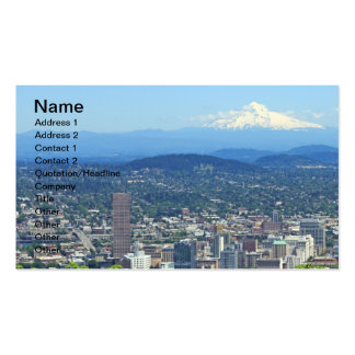 Cidade de Portland, Oregon e Mountain View Modelo Cartões De Visita
