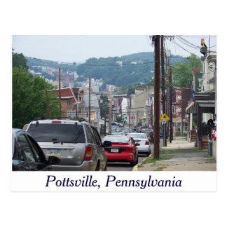 Cidade de Pottsville, cartão de Pensilvânia