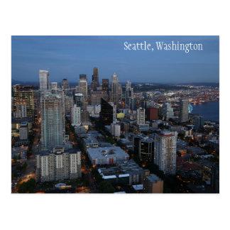 Cidade de Seattle no cartão de Washington