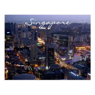 cidade de singapore cartão postal