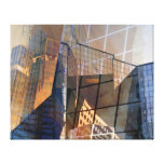 Cidade de vidro impressão de canvas esticadas