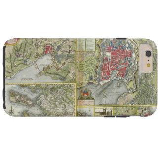 Cidade do cerco do mapa de La Rochelle em 1627-28 Capas iPhone 6 Plus Tough