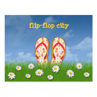 cidade do flip-flop cartão postal