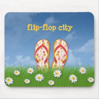 cidade do flip-flop mouse pad