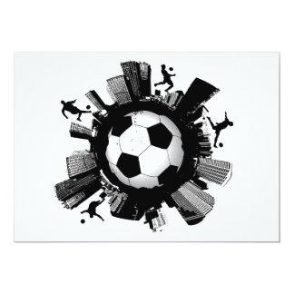 Cidade do futebol convite 12.7 x 17.78cm