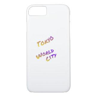 Cidade do mundo de Tokyo, arte colorida do texto Capa iPhone 8/ 7
