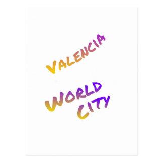 Cidade do mundo de Valência, arte colorida do Cartão Postal